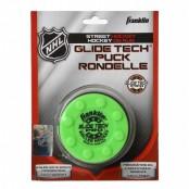 FRANKLIN NHL GLIDE TECH PRO PUCK  Yellow,Green, Orange Street Puck, Hockey Puck, Biscuit Puck