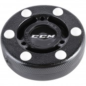 CCM Street Hockey Puck, Pro Puck, Black and White, Biscuit Puck