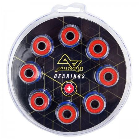 Alkali Swiss Lite Bearings Inline and Roller Wheel Bearings - 16 pcs Blister Pack