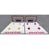 Sauce Toss Kit Ice Hockey Skills, Shooting Board, Training and Passing,