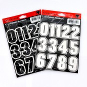 Helmet NUMBER stickers