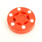 Street Hockey Puck, Pro Puck, Orange and White, Biscuit Puck
