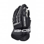 FISCHER CT150 JUNIOR and Senior Ice Hockey Gloves BLACK-WHITE