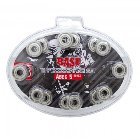 BASE Inline and Roller Wheel Bearings ABEC 5 - 16 pcs Blister Pack