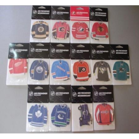 NHL Licensed Merchandise   NHL Air Freshener Team Jersey/Zamboni - ALL NHL TEAMS