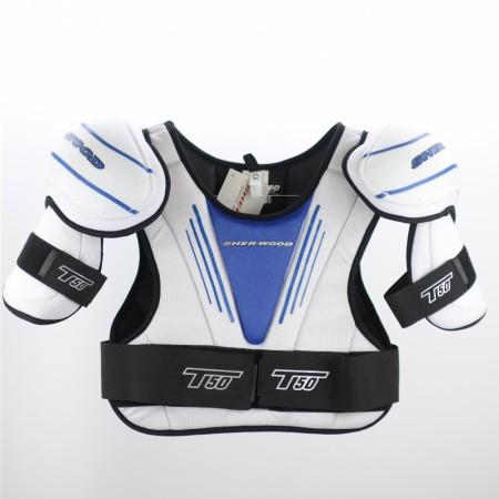 T50 Shoulder Pads (Blue & Black), Hockey Shoulder Pads
