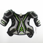 Winnwell GX4/AMP500 Shoulder Pads, Lime & Grey, Ice Hockey Shoulder Pad