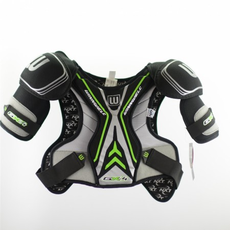 Winnwell GX4 Shoulder Pads, Lime & Grey, Ice Hockey Shoulder Pad