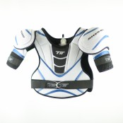 T50 Shoulder Pads (Silver & Blue), Ice Hockey Shoulder Pads