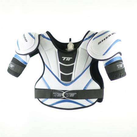 T50 Shoulder Pads (Silver & Blue), Ice Hockey Shoulder Pads