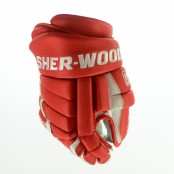 SHER-WOOD T90 PRO Ice Hockey Glove (RED/ white)