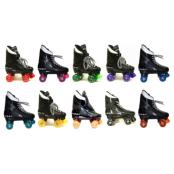 VENTRO PRO TURBO Quad Roller Skates black boots with various colour wheels