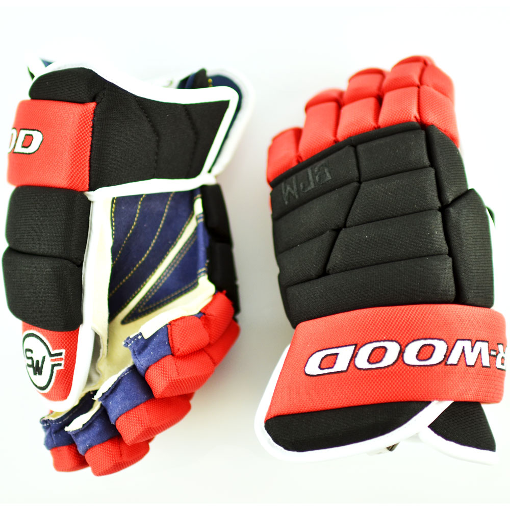 Details about  /Sherwood BPM 120 Roller Inline ICE Hockey Gloves~Red//Blue//Yellow~Size 14+