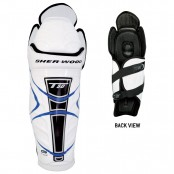 Sher- Wood T50 Shin Pads (Blue and Black), Ice Hockey Shin Pads