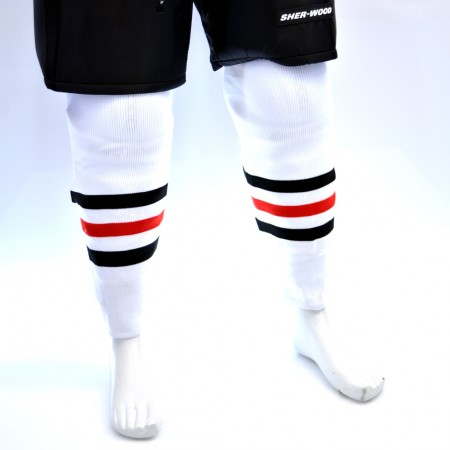 Sweats | Sherwood Hockey Socks - Chicago Blackhawks White