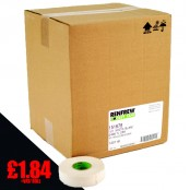 NEW GREENCORE- Renfrew White Hockey Stick Tape, 24mm x 25m, Hockey Tape, (Case of 60 rolls)