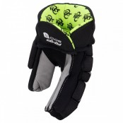 AMP 500 - JUNIOR and Senior Ice Hockey Gloves with NXT odour Management - BLACK (Green Liner), Winnwell