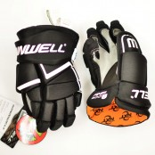 AMP 500 - JUNIOR Ice Hockey Gloves with NXT odour Management - BLACK (Orange Liner), Winnwell