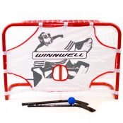 Ice Hockey Mini Goal Set, Skills Trainer, Sticks and Ball ( Metal Frame )